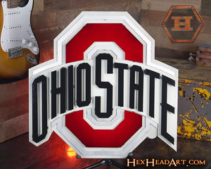 Ohio State University Logo 3D Metal Artwork