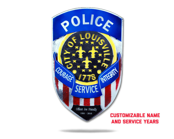 Louisville City Police Badge PERSONALIZED