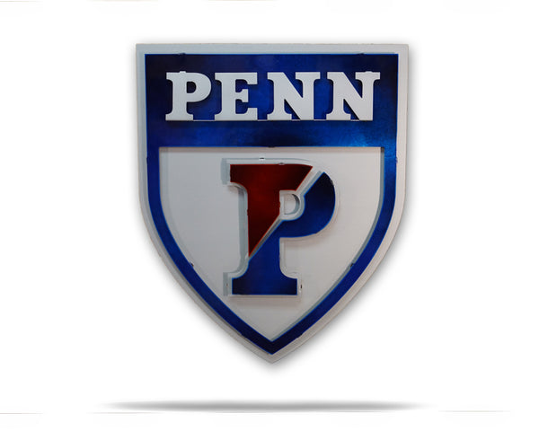 University of Pennsylvania PENN Athletic Shield 3D artwork