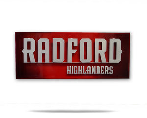 Radford University Highlanders 3D Artwork on a White Background
