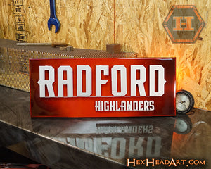 Radford University Highlanders 3D Metal Artwork