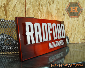 A Custom Radford University Highlanders 3D Artwork