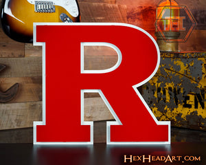 "Rutgers Scarlet Knights ""R"""