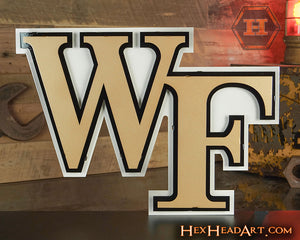 "Wake Forest Demon Deacons  ""WF"" 3D Metal Wall Art"
