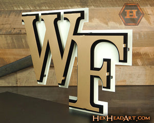 "Wake Forest Demon Deacons  ""WF"" 3D Metal Wall Artwork"