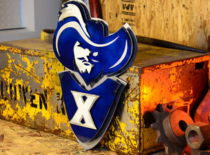 Xavier University Musketeer 3D Vintage Metal Artwork