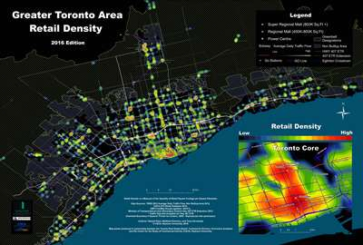 CSCA Greater Toronto Area (GTA) Retail Density Map