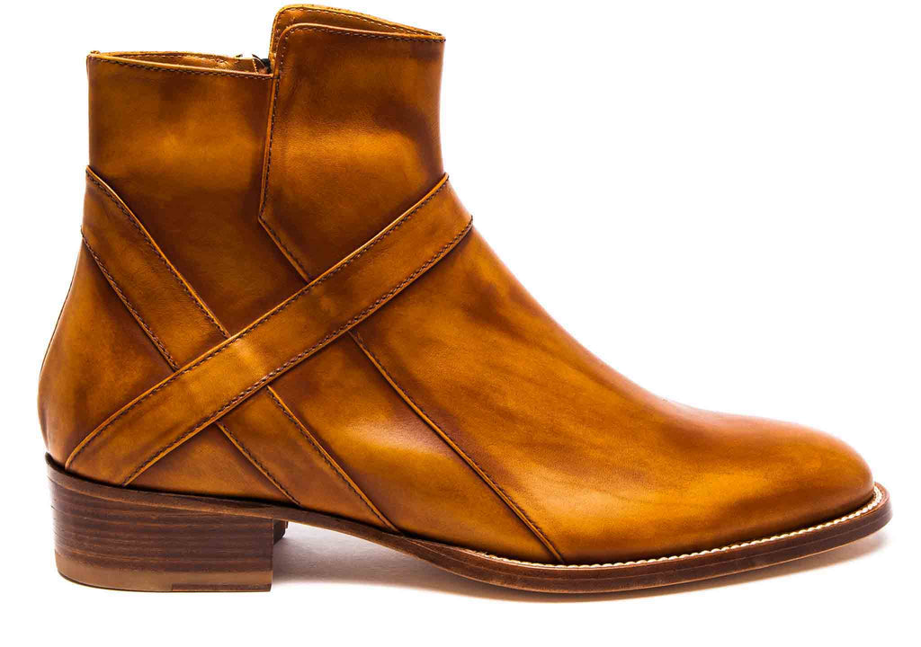 Bowie Mid - Camel Leather