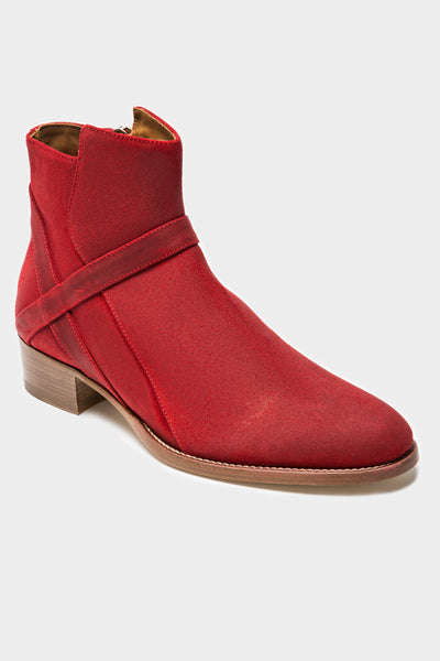 Bowie Mid - Red Oiled Suede