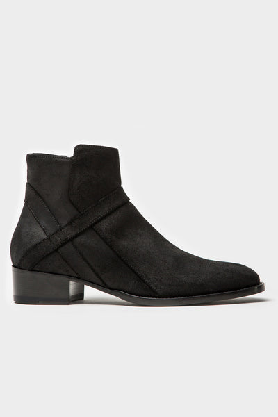 Bowie Mid - Black Oiled Suede