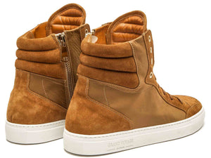 Belmondo High - Tan Nylon Suede