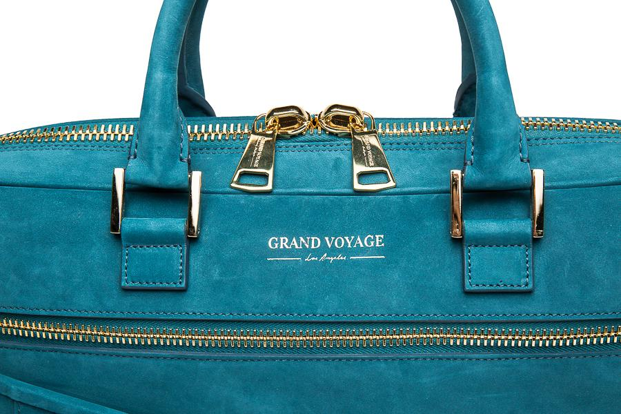 Wolfe Laptop Bag- Teal Nubuck