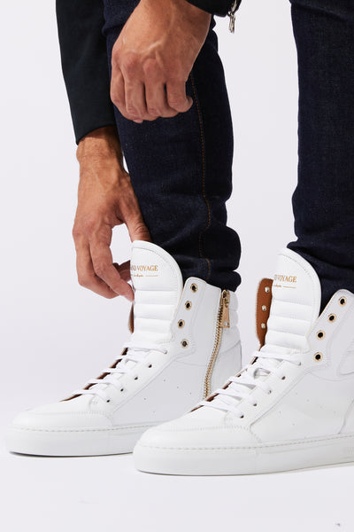 Belmondo High - White Leather