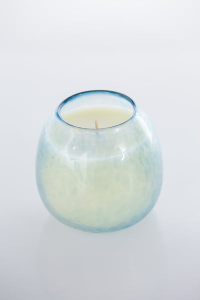 TEJOCOTE AZUL - Prosperity candle big round blue