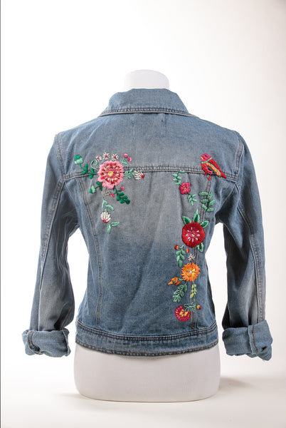 Emboidered Denim Jacket