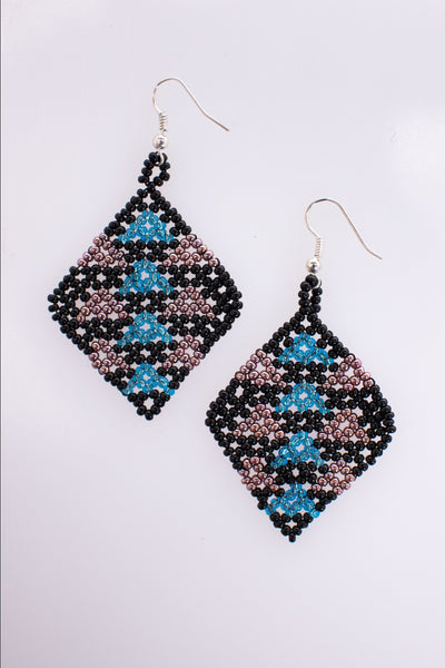EL DIAMANTE EARRINGS (BLUE)