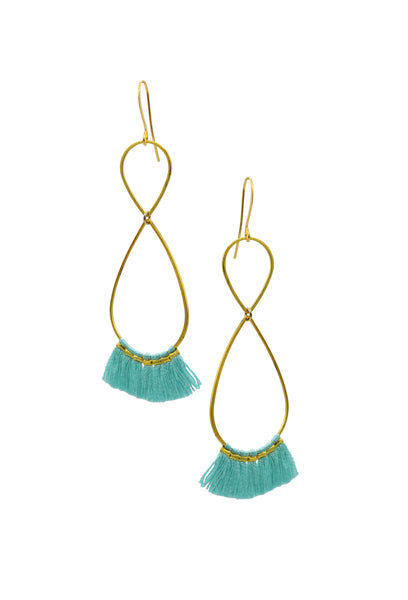 ROSALIN AQUA INFINITY - Earrings