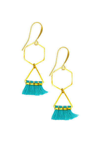 ELENA GEOMETRIC AQUA - Earrings