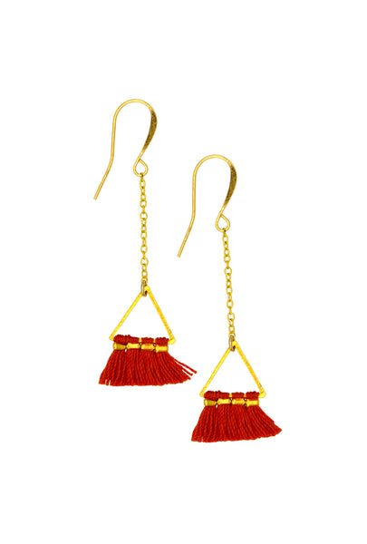 LUCIA RED TRIANGLE - Earrings