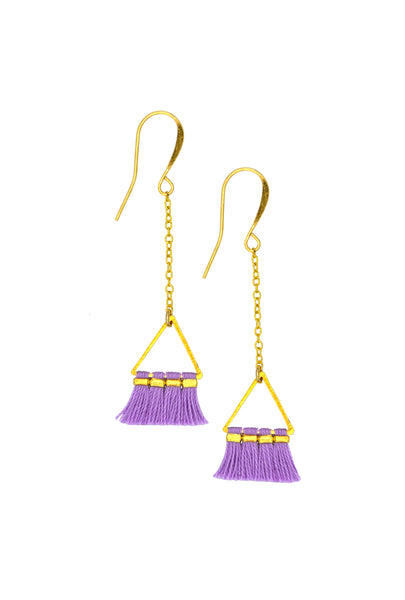 LUCIA LAVENDER TRIANGLE - Earrings