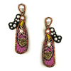 Pink Champagne Beaded Earrings