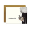 Leopard Clutch Birthday Card