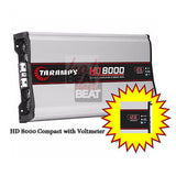 Taramps HD8000 8000 W RMS 1 ohm Amplifier 14.4 Volts Compact w/ Voltmeter HD8K