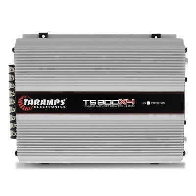 Taramps TS800X4 4-Channel 1 ohm 800 Watt RMS Class D Compact Power Amplifier