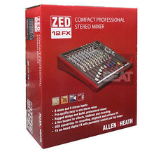 Load image into Gallery viewer, Allen & Heath ZED 12 FX 12-Channel Mixer w/ USB Interface & Onboard Effects