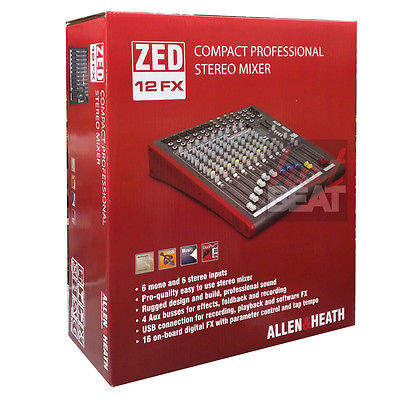 Allen & Heath ZED 12 FX 12-Channel Mixer w/ USB Interface & Onboard Effects