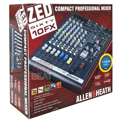 Allen & Heath ZED 60/10 FX Multi-Purpose 6-Ch Mixer w/ Effects & USB Interface