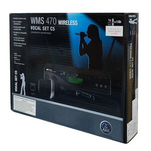 AKG WMS470 Wireless C5 Vocal Condenser Microphone Set (Band-7) 3306X00370 Main Image