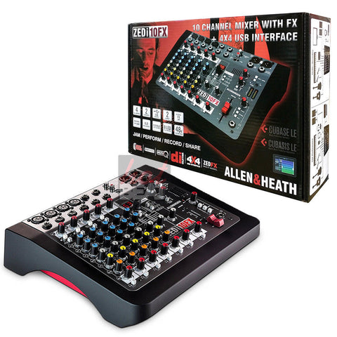 Allen & Heath ZEDi-10FX Compact Mixer/USB Interface w/ Effects 750408398918