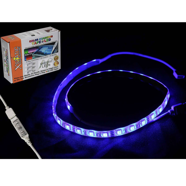 "Xstatic X-S72RGB-KIT 48"" 4ft IP65 Red Green Blue LED Strip Light Kit w Remote"