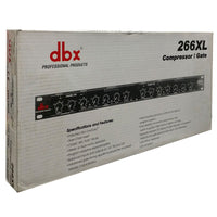dbx 266XL Dual Compressor Limiter Gate 691991400513 266-XL Compression Gating