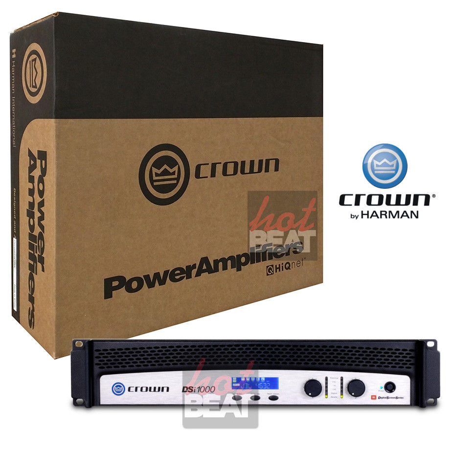 Crown DSi1000 2-Channel Professional Solid State Cinema Power Amplifier 110-240V