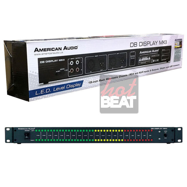 American Audio DB Display mkII LED db Level Display & Amp Rack Lightshow DBD567