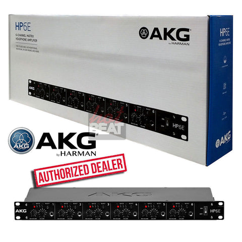AKG by Harman HP6E 6-Channel Matrix Headphone Amplifier 885038038849