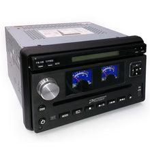 "Load image into Gallery viewer, Performance Teknique ICBM-9687T 7"" Flip-up Car DVD MP3 SD Analog Retro Gauge"