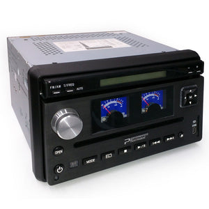 "Performance Teknique ICBM-9687T 7"" Flip-up Car DVD MP3 SD Analog Retro Gauge"