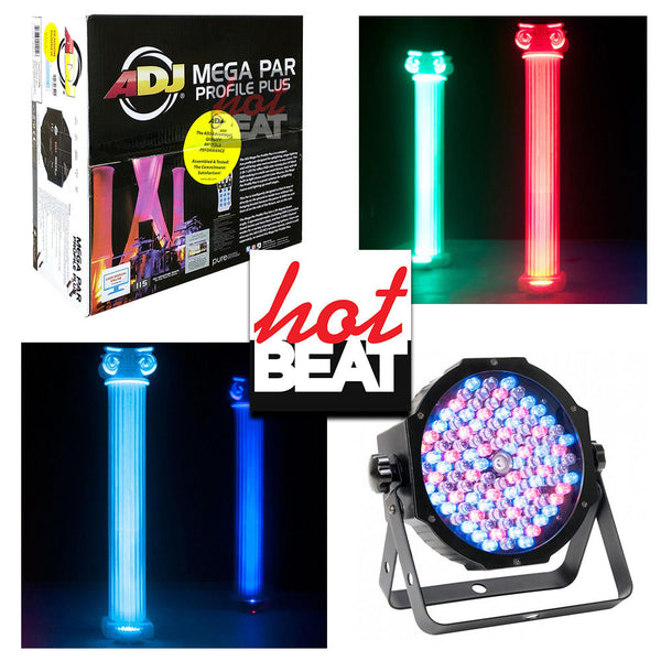 ADJ American DJ MEG358 Mega Par Profile Plus Compact RGB+UV LED Lighting Effect
