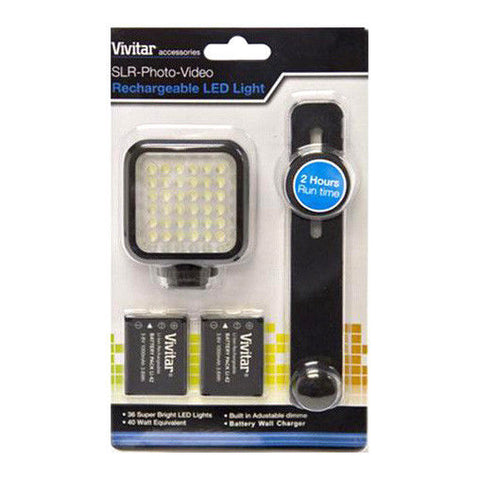 Vivitar DSLR Photo Video Continuous Rechargeable LED Panel Light 5600K