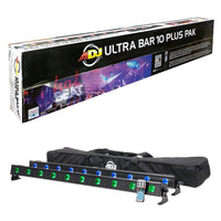 ADJ American DJ Ultra Bar 10 Plus Pak Pack Linear LED Fixture Kit 819730016850