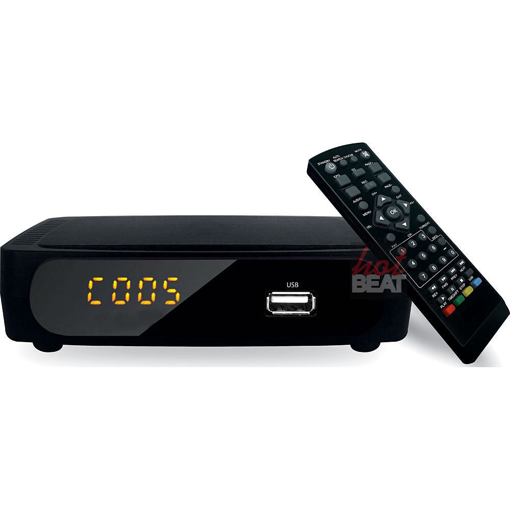 Coby CSTB-600 USB Multimedia Player Digital Converter Box for Standard Analog TV