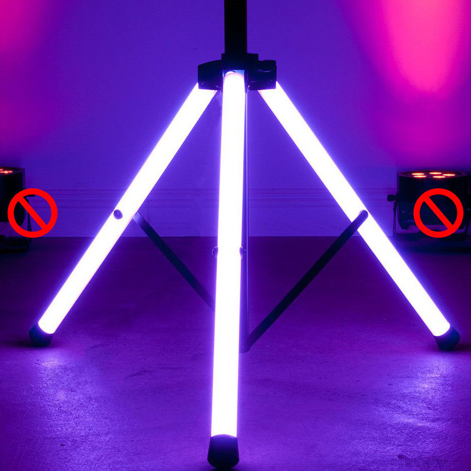 ADJ Remote Controlled Safety Lighted Speaker Tripod Stand w/ Lights 60-lb. Load