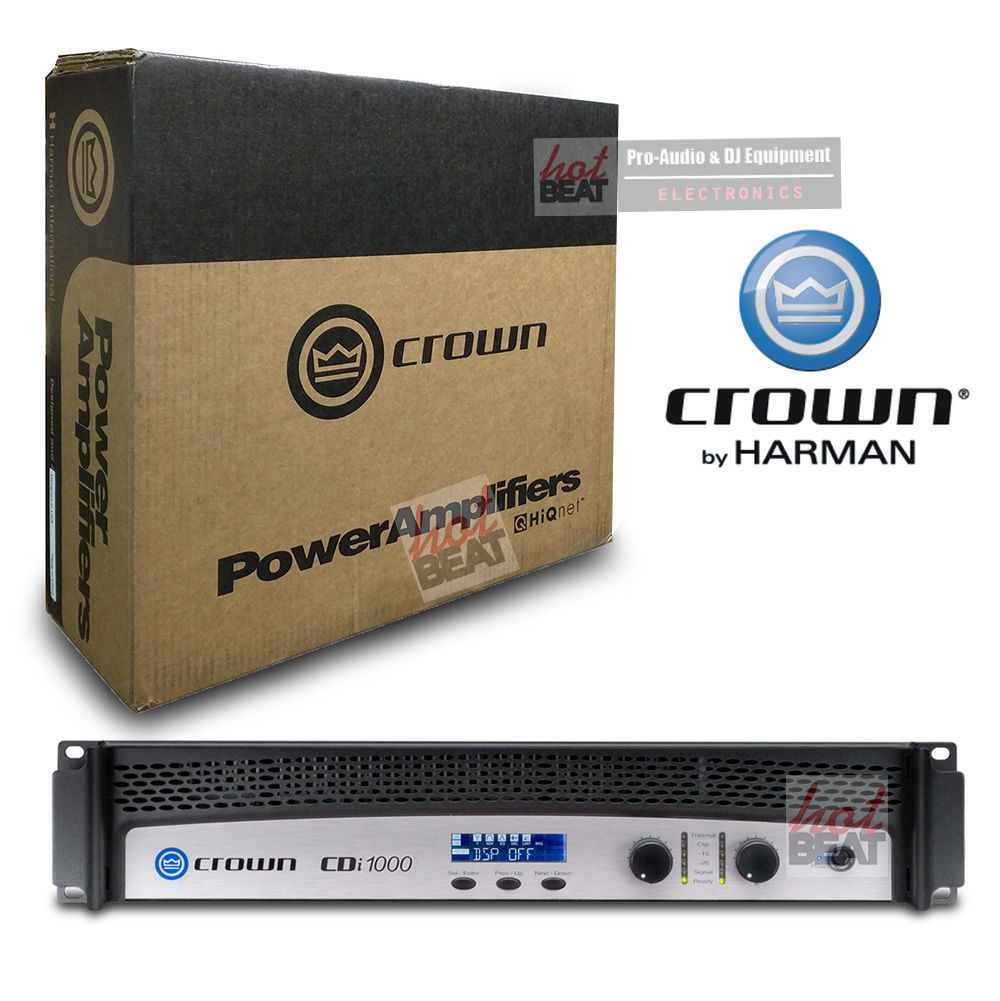 Crown Audio CDi1000 Contractor Digital Intelligence Power Amplifier 871015002125