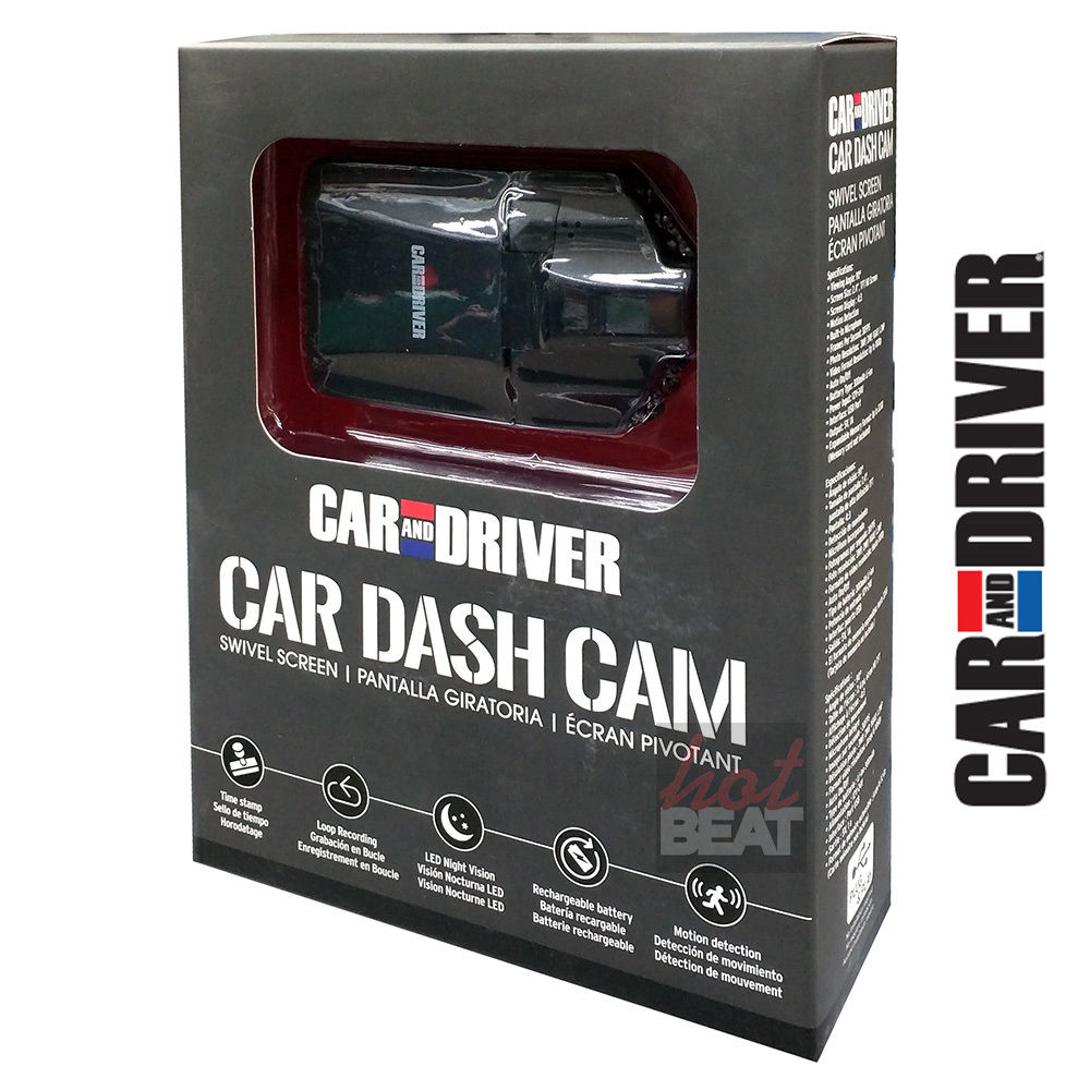 Car And Driver DASH CAM 812180028626 1080p Full HD Swivel LCD IR Night Vision