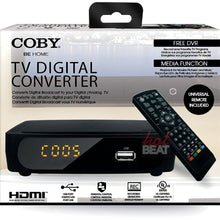 Load image into Gallery viewer, Coby CSTB-600 USB Multimedia Player Digital Converter Box for Standard Analog TV