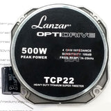 LANZAR OptiDrive Opti TCP22 4-Ohm 500W Heavy Duty Competition Tweeter 500 Watts