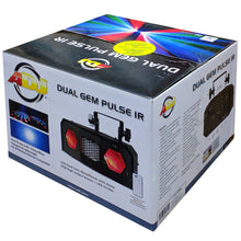 Load image into Gallery viewer, ADJ American DJ Dual Gem Pulse IR Dual Lens Fixture Moonflower Strobe 110 - 240V